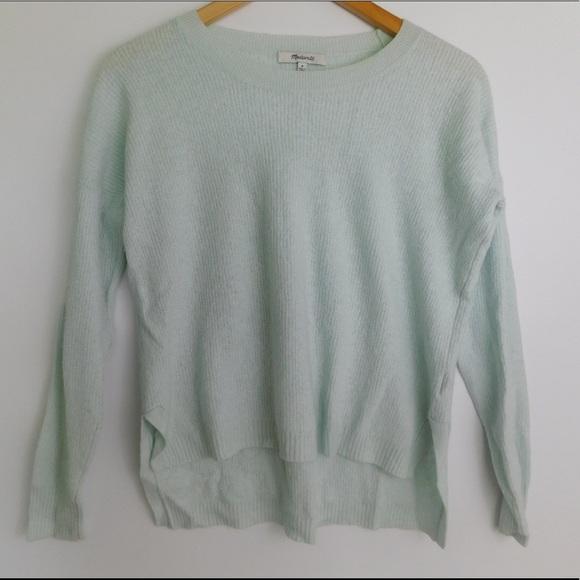 Madewell Sweaters Baby Blue Side Slit Sweater Womens Med Poshmark